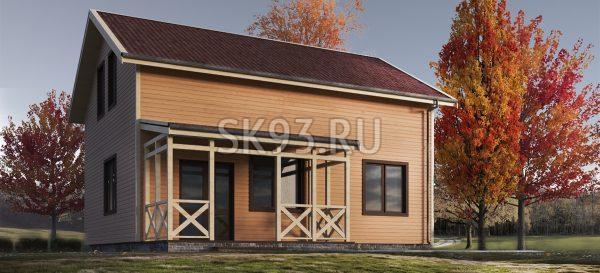 Дом с мансардой в классическом стиле