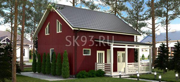 Компактный загородный дом