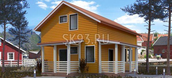 Двухэтажный дом с террасой