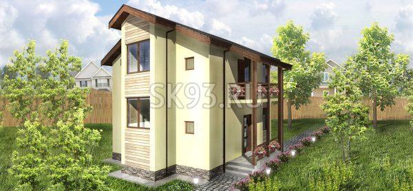 Двухэтажный дом с удобной планировкой