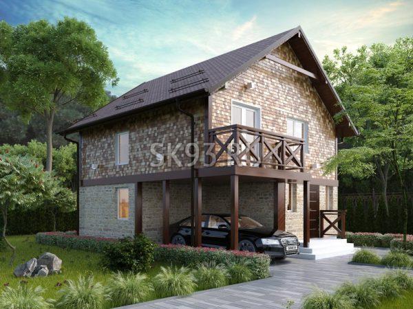 Двухэтажный коттедж для семьи