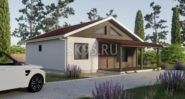 Одноэтажный дом с большой гостиной