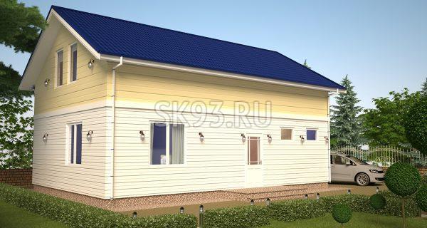 Простой двухэтажный дом