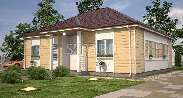 Простой одноэтажный дом