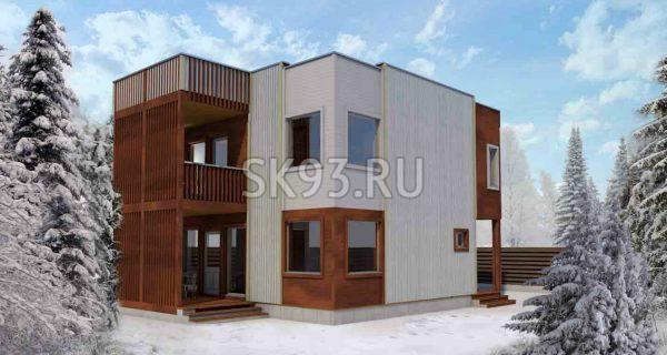 Своевременный двухэтажный дом