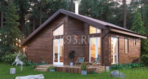 Деревянный дом для загородной жизни на природе