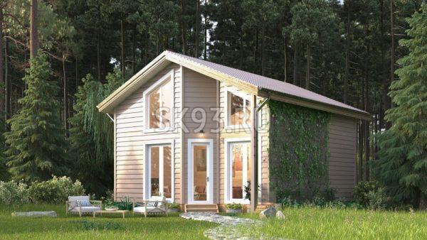 Небольшой дом со свободной планировкой